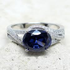 awesome 2.5 ct tanzanite <b>925 sterling silver</b> ring size 5-10
