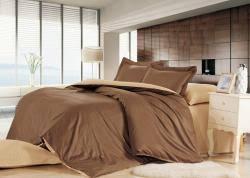 Однотонное <b>постельное белье</b> из шелка и хлопка