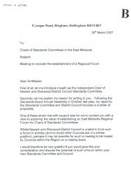 west lindsey district council letter from the chair of newark and sherwood district council s standards committee