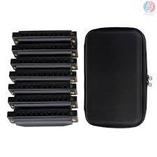 E*M <b>NAOMI</b> Piedmont Blues Harmonica Harp Set of 7 (G, A, Bb, C ...