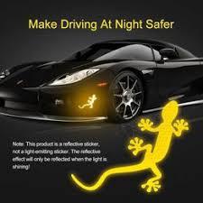2Pc 3D Car Decals stickers Gecko Car 3d Reflective Stickers ... - Vova