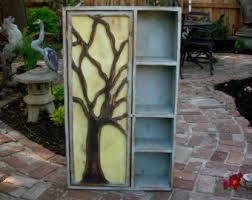 wood furniture shelf rustic oak tree cabinet artistic furniture storage shelves french country artistic furniture