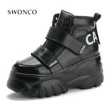<b>SWONCO</b> Woman <b>Sneakers</b> High Top <b>White</b> 2018 <b>Winter</b> Autumn ...