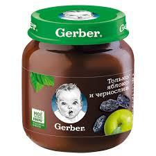 <b>Пюре фруктовое Gerber</b> Только яблоко и чернослив 1 ступень ...
