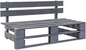 vidaXL <b>Wooden Garden</b> Bench <b>Pallet Bench</b> Grey: Amazon.de ...