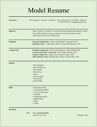 perfect model professional resume resume and letter writing example resume model cv format