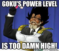 Whats the scouter say about his power level memes | quickmeme via Relatably.com
