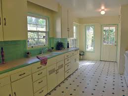 Tile Kitchen Countertops Darling Kitchen With Original Honeycomb Tile Countertops Kitschy