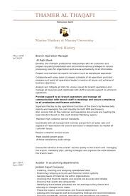 branch operation manager cv rnei operation manager resume