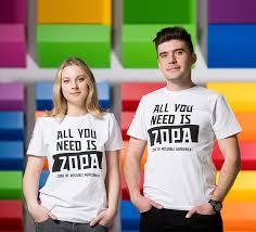 <b>Футболка All</b> you <b>need</b> is ZOPA унисекс