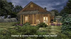 D Images For CHP SG   AA   Small Craftsman Cabin D House Plan    BACK LEFT WITH GARAGE SG  D Screened Porch