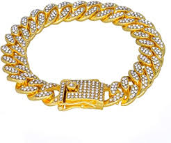 MCSAYS Hip Hop Men Jewelry Gold <b>Fashion Full Diamond</b> Cuban ...