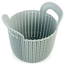 <b>Корзина круглая Curver Knit</b> XS, голубая, 3л – купить в Юлмарт ...