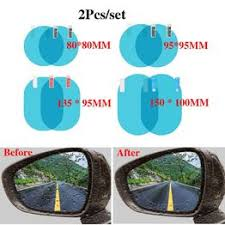 2Pcs/set Car Rearview Mirror Waterproof Film Rearview ... - Vova
