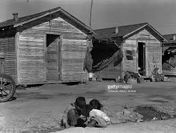 company housing for cotton workers near corcoran california dated unemployment migrant dust bowl unemployed economy great depression usa