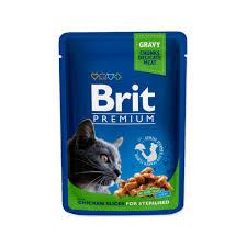 <b>BRIT PREMIUM CAT</b> POUCH WITH CHICKEN SLICES FOR ...