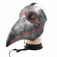 LED <b>Halloween Cosplay Steampunk Plague</b> Beak Doctor Bird ...