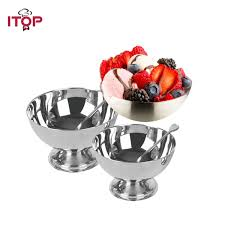 <b>Ice</b> Cream Cup 9cm 10cm <b>Stainless Steel Ice</b> Cream Cup Small ...