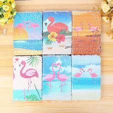 XY <b>Sequin Fish</b> Lining Flip Flamingo Book <b>Creative</b> Stationery Diary ...