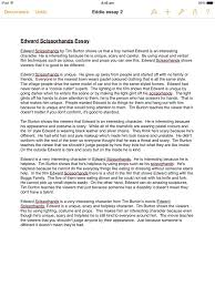 edward scissorhands essay character  edward scissorhands essay character