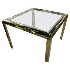 expandable dining table ka ta: dia brass dining game table vintage hollywood regency design institute america