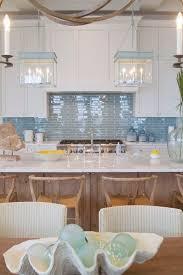 beach house white and blue kitchen beach house kitchen nickel oversized pendant