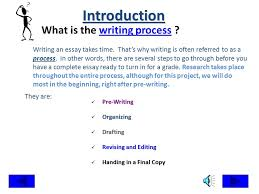 the writing process steps in writing an essay pre writing planning    the writing process steps in writing an essay pre writing planning and organizing drafting revising