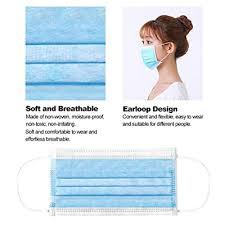 <b>50 Pieces Disposable</b> Mask Non-Woven Carbon Dustproof ...