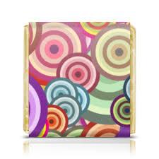 Шоколадка 3,5×3,5 см <b>Цветные круги</b> #1588693 от BeliySlon