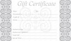 printable donation certificate templates editable and printable silver swirls gift certificate template printable donation certificate templates dimension n tk