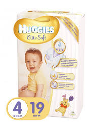 <b>Huggies Подгузники</b> Элит Софт 4 (8-14кг), 19 шт. | Хозяйка