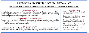 information and cyber security specialist in ca candidate information assurance