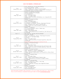 10 travel agenda template word sample of invoice 10 travel agenda template word