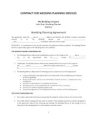 wedding planner contract template wedding eo contract cover letter gallery of party planning contract