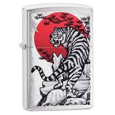 <b>Зажигалка Zippo Asian</b> Tiger Design, 29889 - 070.com.ua