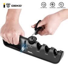 <b>DEKO 4 in 1</b> multifunction Knife Sharpener Adjustable Angle Grind ...