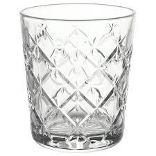 <b>ФЛИМРА</b> Стакан, прозрачное стекло, с рисунком, Высота: 9.9 см ...
