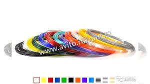 <b>Набор</b> пластика для <b>3D ручки unid</b> PLA-12 (по 10м купить в ...