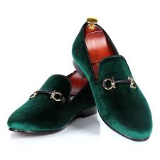 <b>mens</b> dress shoes green velvet loafers shoes woven <b>buckle strap</b> ...