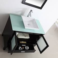 bathroom vanities tops choices choosing countertops: beautiful bathroom vanities with tops made of tempered glass material with white square sink