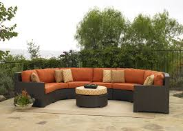 patio couch set silver coast malibu  piece custom outdoor java wicker patio sectional set