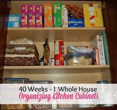organizing kitchen cabinets food