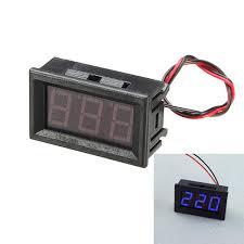 <b>3Pcs 0.56 Inch</b> Blue AC70-500V Mini Digital Voltmeter Voltage ...