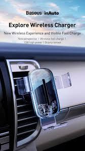 <b>Baseus Explore Wireless</b> Charger Gravity Car Mount 15W купить в ...