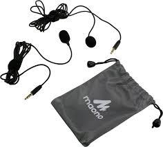 <b>Микрофон</b> петличный 2 шт. <b>MAONO AU</b>-<b>404</b> 2м (черный ...