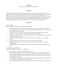 infrastructure project manager resume template sample ms word