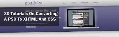 30 Tutorials On Converting A PSD To XHTML And CSS | Creative ...