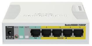 Купить <b>Коммутатор Mikrotik RB260GSP</b> (арт. <b>CSS106</b>-<b>1G</b>-<b>4P</b>-<b>1S</b> ...