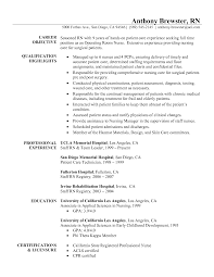 resume examples for rn professional nursing resume examples sample entry level nurse resume