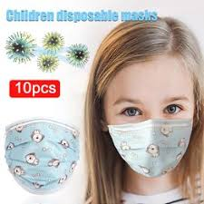 10PCS Kids Cute Disposable Cartoon Printing Mouth Masks ... - Vova